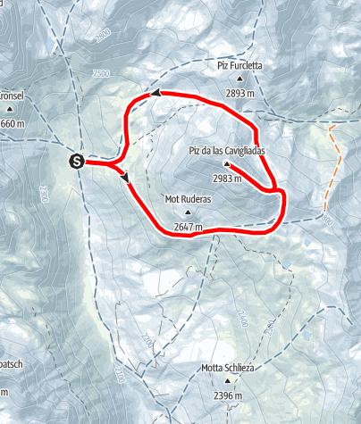 Karte / Piz da las Clavigiadas (2983 m.ü.M)