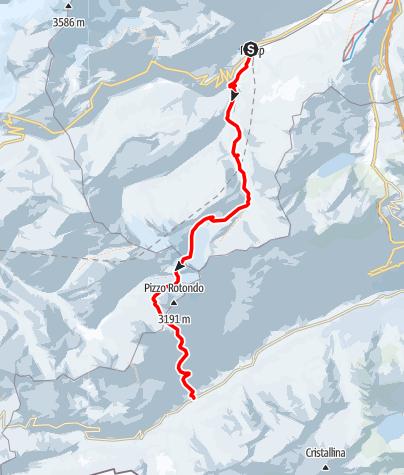 Karte / Rotondohütte (2570 m.ü.M.)