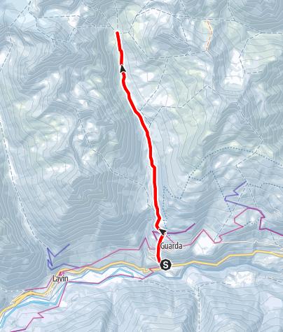 Karte / Chamanna Tuoi (2250 m.ü.M.)