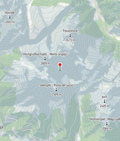 Karte / Tiefrastenhütte