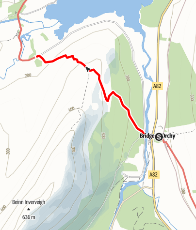 Karte / Bridge of Orchy to Inveroran