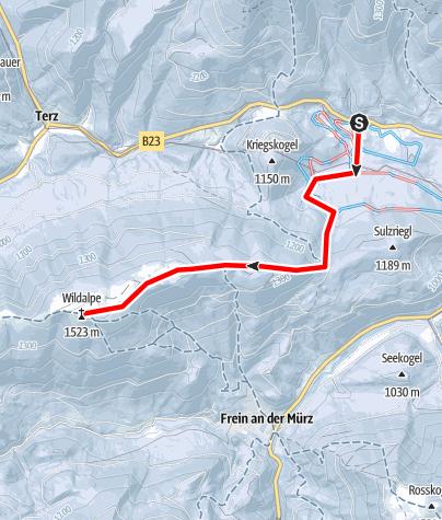 Karte / Wildalpe von Lahnsattel Ort