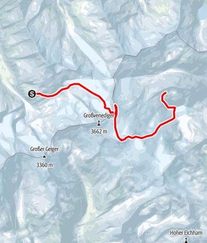 Map / Venedigerrunde - Etappe 3: Kürsinger Hütte – Kleinvenediger – Rainerhorn – Neue Prager Hütte (2796 m)