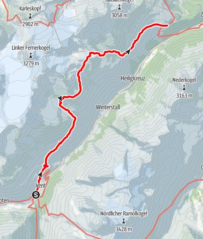 Karte / Ötztaler Urweg E7 Vent - Gaislach