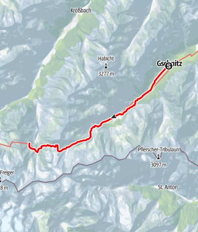 Karte / 02 Zentralalpenweg West, E24: Gschnitz – Nürnberger Hütte