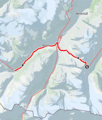 Karte / 02 Zentralalpenweg West, E28: Ramolhaus – Hochjochhospiz