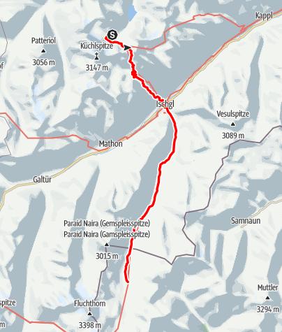 Karte / 02 Zentralalpenweg West, E35: Darmstädter Hütte – Heidelberger Hütte
