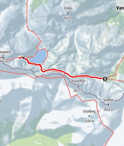 Karte / 02 Zentralalpenweg West, E40: Lindauer Hütte - Totalphütte