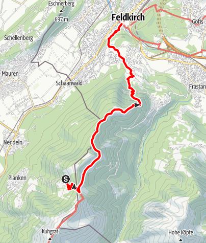Karte / 02 Zentralalpenweg West, E43: Gafadurahütte – Feldkirch