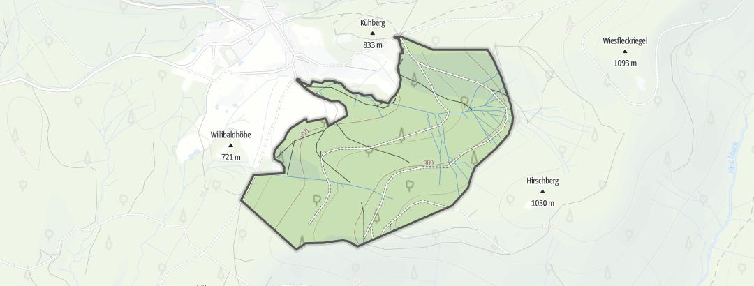 Karte / Auwald