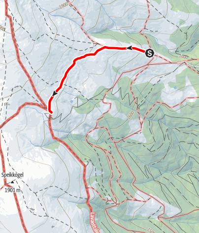 Karte / Zustieg von der Offner Hütte zur Wolfsberger Hütte