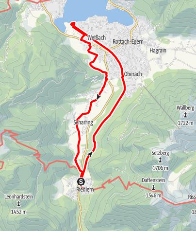 Karte / Talwanderung Kreuth-Ringsee