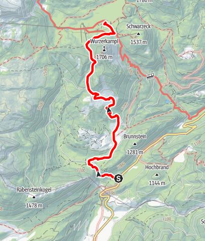 Map / Zustieg von Kalkofen zum Linzer Haus