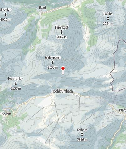 Karte / Widdersteinhütte.