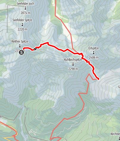 Karte / Karwendel Höhenweg - Etappe 2