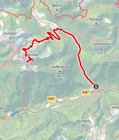 Karte / Bike u. Hike Tour - Roß- u. Buchstein