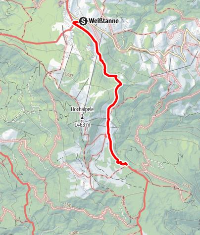 Map / Zustieg vom Bödele zur Lustenauer Hütte
