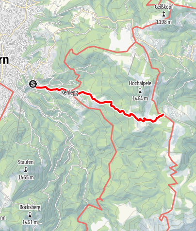 Karte / Zustieg von Dornbirn zur Lustenauer Hütte