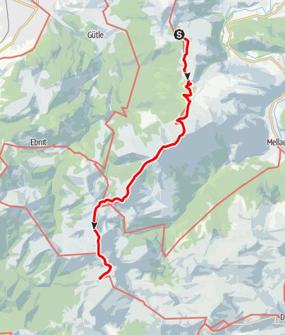 Karte / Übergang von der Lustenauer Hütte zum Freschenhaus