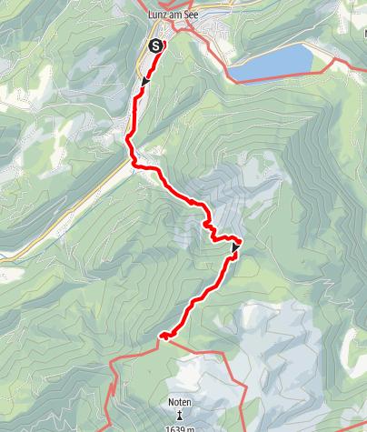 Map / Dürrenstein, Hochschwab und Gesäuse - E.1  Lunz-Ybbstaler Hütte