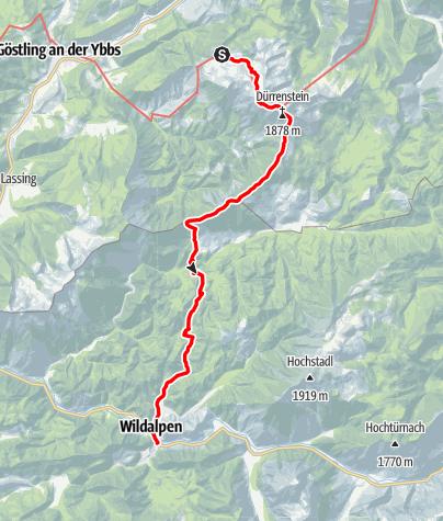 Map / Dürrenstein, Hochschwab und Gesäuse - E.2 Ybbstaler Hütte-Wildalpen