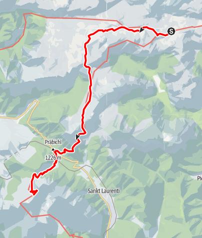 Karte / Dürrenstein, Hochschwab und Gesäuse - E.4 Sonnschienhütte-Reichensteinhütte