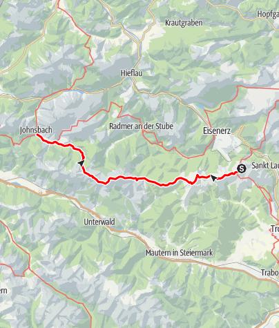 Karte / Dürrenstein, Hochschwab und Gesäuse - E.5 Reichensteinhütte-Johnsbach