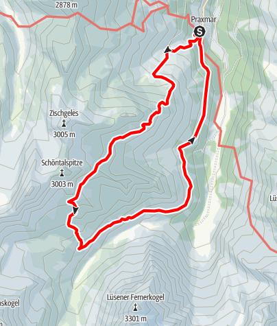 Karte / Rundtour im Sellrain übers Westfalenhaus