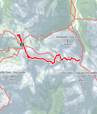 Map / Dolomites without borders - Stage 3: Three Peaks - Rifugio Comici