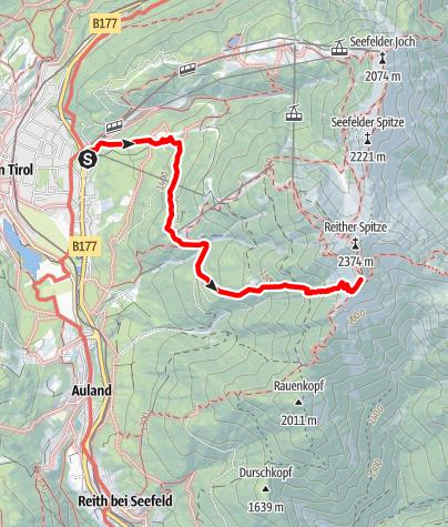 Karte / Zustieg Nördlinger Hütte von Seefeld