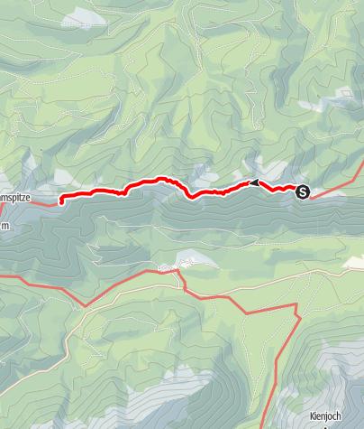 Karte / Übergang vom August Schuster Haus zur Brunnenkopfhütte