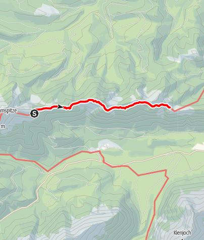 Karte / Übergang Brunnenkopfhütte zum August Schuster Haus