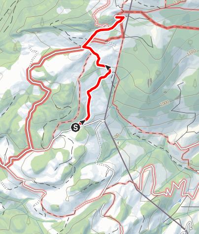 Karte / Zustieg Spitzsteinhaus vom Erlerberg
