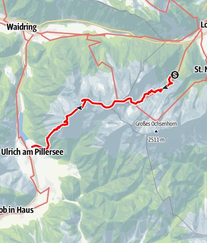 Map / Auf dem Nuaracher Höhenweg über die Loferer Steinberge