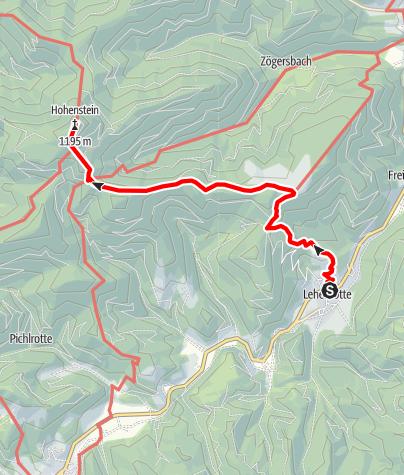 Karte / Zustieg von Lehnrotte zum Otto-Kandler-Haus