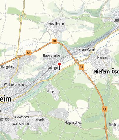 Karte /  Vereinsheim Musikverein Eutingen/Baden