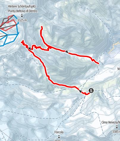 Karte / Madritschspitze,3265m ab der Marteller Hütte