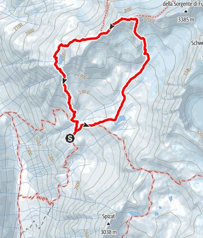 Karte / Von der Oberetteshütte zur legendären Höllerscharte
