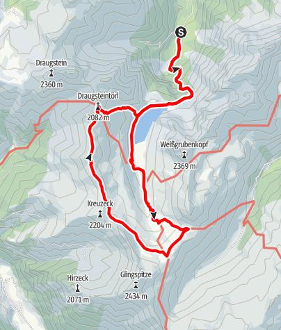 Karte / Tappenkarsee-Karteistörl-Haselloch-Tappenkarsee