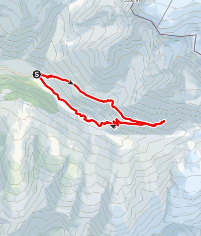 Karte / Melag – Weißkugelhütte