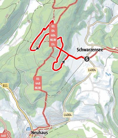 Karte / Rund um das Klettereldorado der Wiener, die Peilsteinrunde