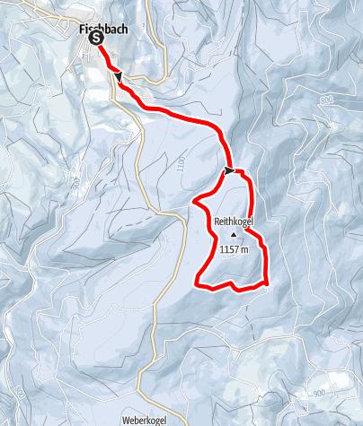 Karte / Winterliche Märchenwiese und Reithkogel