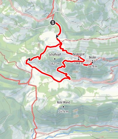 Karte / Auf den Besler