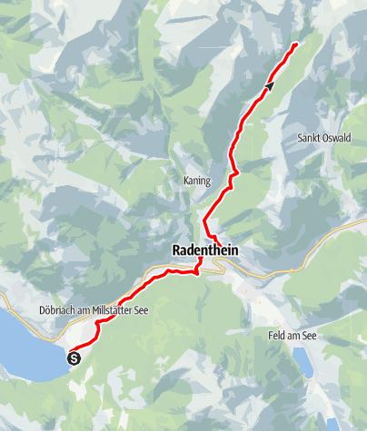 Karte / Etappe 14 Alpe-Adria-Trail: Döbriach - Langalmtal