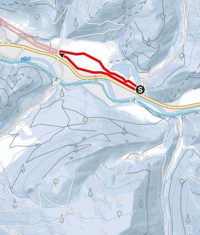 Karte / Mürzer Oberland Loipe