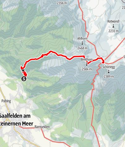 Karte / Saalfeldener Höhenweg