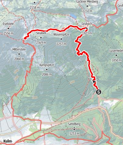 Karte / Silberkarklamm - Guttenberghaus