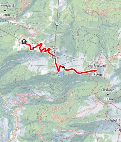 Karte / Gernkogel/Geisterberg - Sonntagskogel