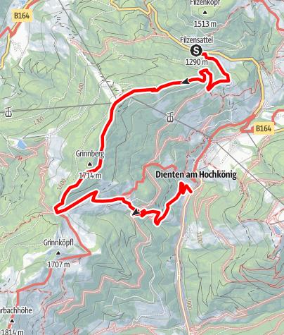 Karte / Filzensattel-Gabühel-Lettenalm-Grünegg