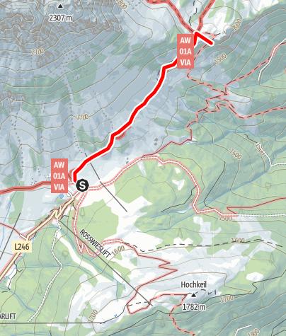 Karte / Arthurhaus-Mitterfeldalm